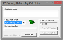 JCB SECURITY UNLOCK KEY CALCULATOR v0 2