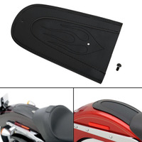 Black Flame Leather Flame Plain Rear Fender Bib For Harley Sportster XL883 XL1200 2004 2015 Solo