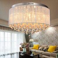 Crystal Combination Modern Minimalist Living Room Bedroom Ceiling Lamp Crystal Lighting Fixtures Romantic Pastoral