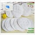 6 pcs Única Camada Lavável Almofadas De Mama Enfermagem Algodão Macio Absorvente Almofadas de Amamentação prevenção derramamento pad de mama Para Grávidas