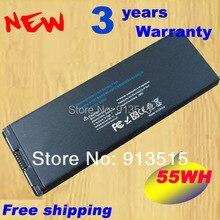 """Черный Батарея для Apple MacBook 13 """"A1185 A1181 MA561 ma561fe/ma561g/ma254 ma255ch/A ma699b/mb061x/55wh + бесплатная доставка"""