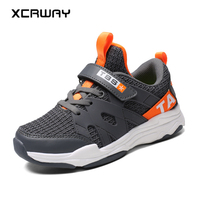 XCRWAY 2019 Kids Shoes Spring Summer Super Light Running Shoes Air Mesh Boys Sneakers No Slip Youth Male Sports shoes Size 31 40