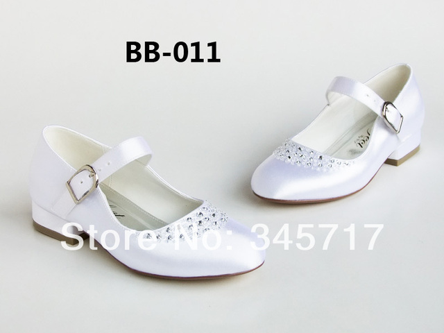 Custom make wedding shoes for flower girls rhinestone white girl custom make wedding shoes for flower girls rhinestone white girl shoes for wedding bride flat wedding mightylinksfo