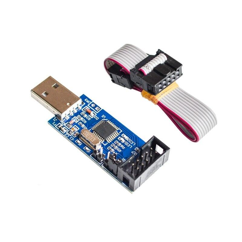 1pcs USBASP USBISP AVR Programmer USB ISP USB ASP ATMEGA8 ATMEGA128 Support Win7 64K 51 avr programmer isp download usb asp downloader