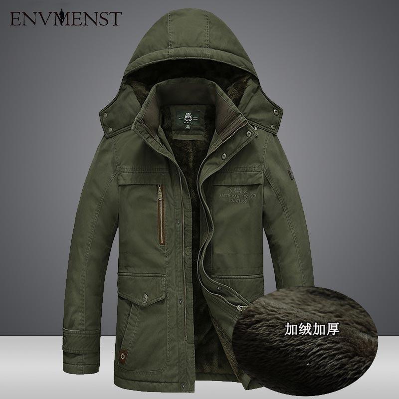 2017 Fashion Winter Hooded Jacket Men Outwear Velvet Thickening Inside Warm Coat Loose Causal Jacket Big Size 5XL