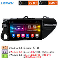 LEEWA 10.1 Android 8.1 8 Core/DDR3 2G/32G/Support 4G LTE Car Media Player With GPS/FM/AM RDS For Toyota Hilux 2016 2018