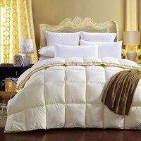 Modern Style Yellow Bedding Quilting Seam Duck Down Down Feather Velvet Silk Quilt Duvet For White