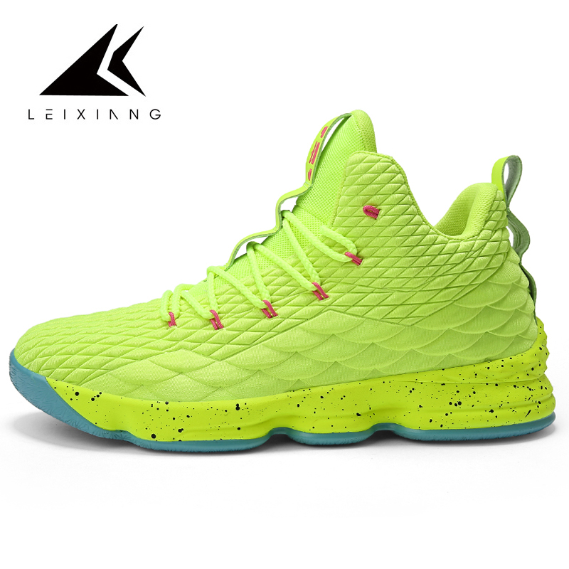 2019 Men Basketball Shoes High Top Lace-up Athletic Outdoor Sport Shoe Shockproof Couple Size 46 DampingSneakers Men Ayakkabi image