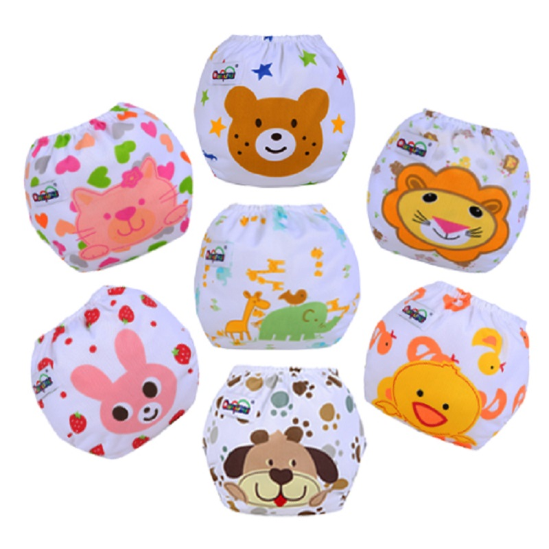 1 PCS Reusable Baby Infant Nappy Cloth Diapers Soft Covers Baby Nappy Size Adjustable Training Pants Size Adjustable Cut Pattern