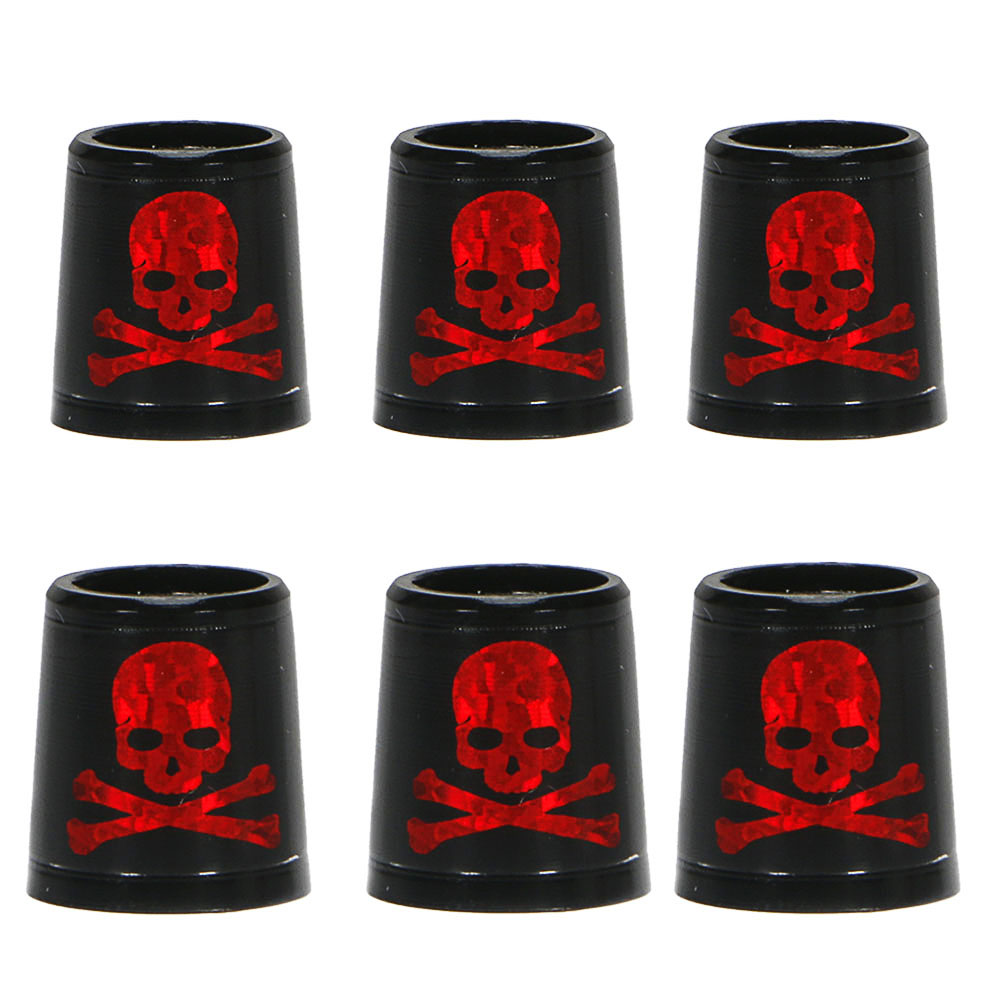 Free Shipping GOLF Ferrules For Irons And Wedges Spec : Inner * Higher* Outer Size 9.3 *15*13.8 Mm Black With Red  Skull