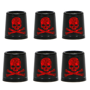 Image 1 - Free shipping GOLF ferrules for irons and wedges spec : inner * higher* outer size 9.3 *15*13.8 mm black with red  Skull