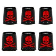 Livraison gratuite embouts de GOLF pour fers et cales spec: intérieur * supérieur * taille extérieure 9.3*15*13.8mm noir avec crâne rouge