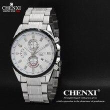 2016 Nuevos relojes de Los Hombres CHENXI Top Marca de Lujo Caliente de Diseño Militar Deportes Relojes Hombres Digital Cuarzo de Los Hombres Reloj de Acero Completo