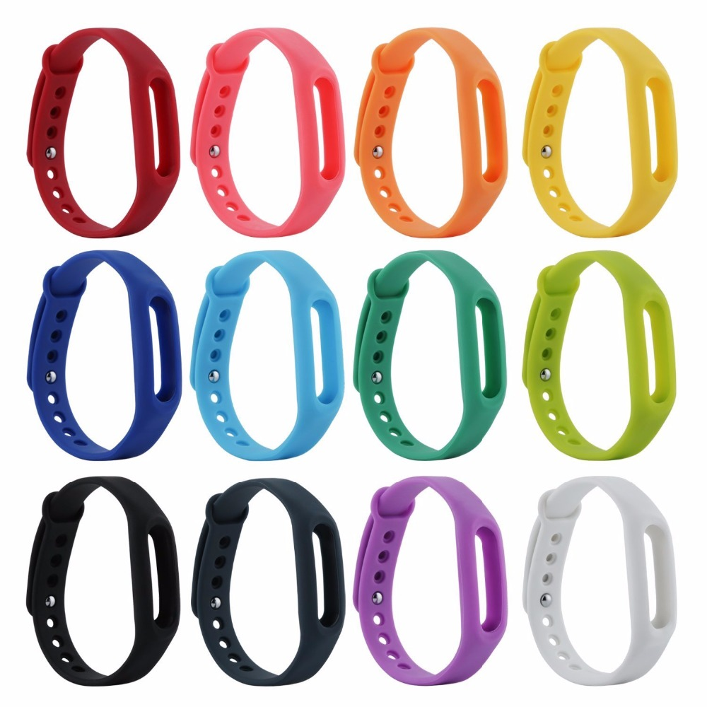 1 pcs Xiaomi mi band 2 Wrist Strap Belt Silicone Colorful Wristband for Mi Band 2 Smart Bracelet for Xiaomi Band 2 Accessorie strap for xiaomi mi band 2 bracelet for xiaomi mi band 2 silicone wrist for mi band 2 smart accessories wristband replacement