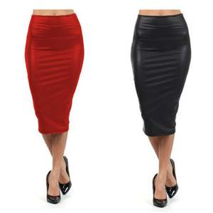 Skirt Club Travel Sexy Black XL Long High-Waist XXXL Middle Casual Red Party-Bar