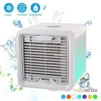 Mini USB Portable Air Conditioner Conditioning Humidifier Purifier 7 Colors Light Fan Air Cooler Fan For Office Home