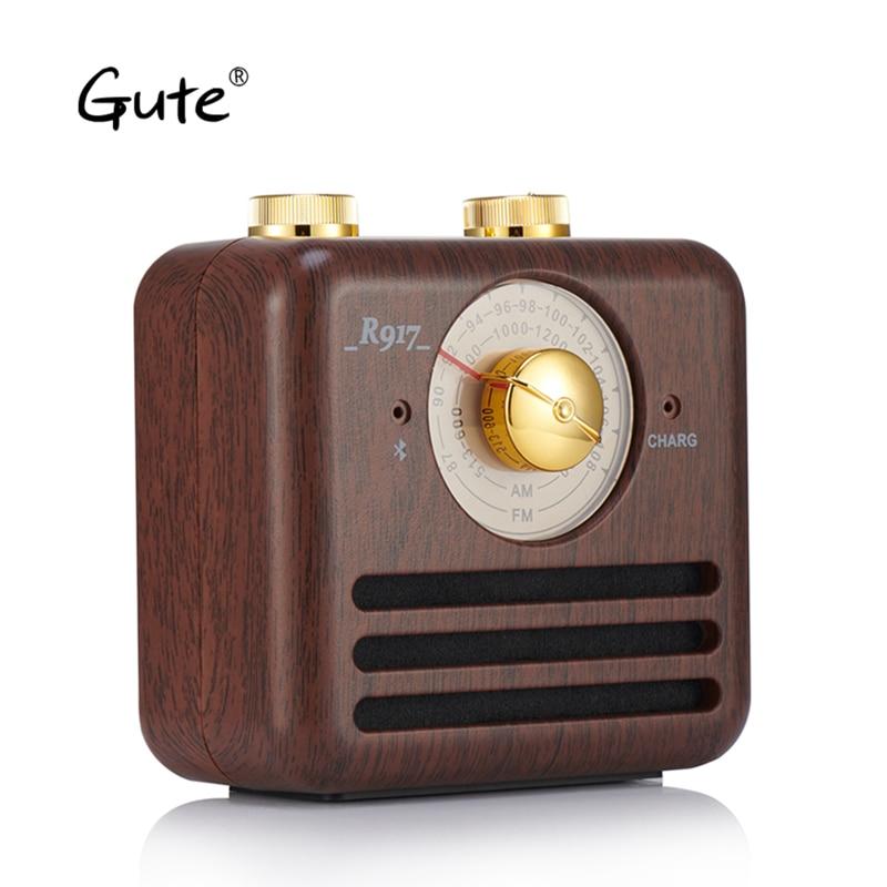 US $29 65 44% OFF|Gute radio retro vintage wood Bluetooth Speaker am FM  radio antenna receiver dab radio radyo aged Elderly portatil caixa de  som-in