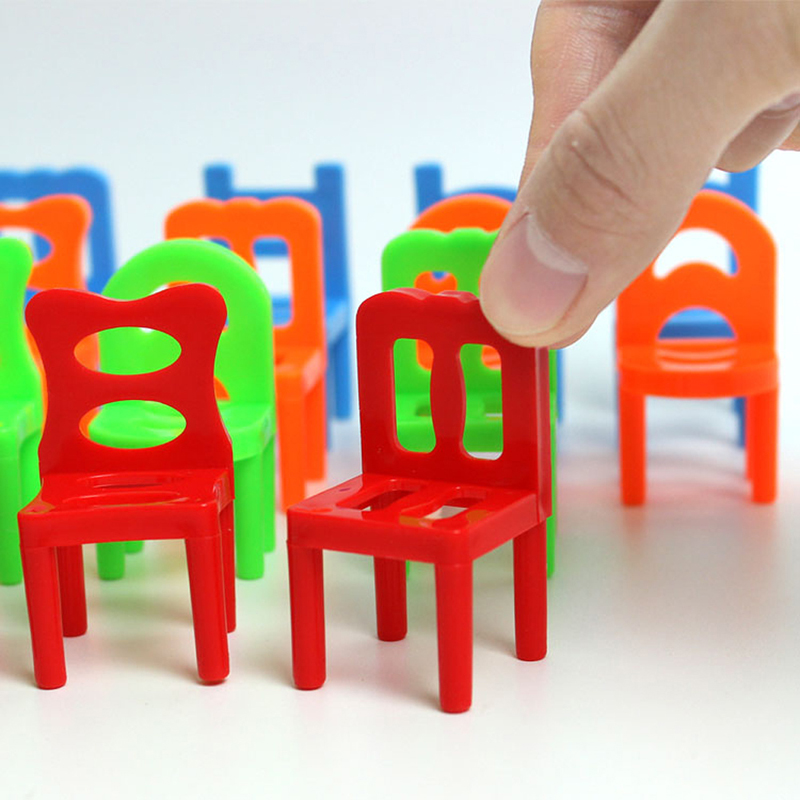 18pcsSet-Plastic-Educational-Toy-Balance-Stacking-Chairs-for-Kids-play-at-desktop-really-good-family-Game-2