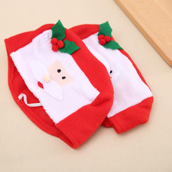 Santa Claus Snowman Small Tissue Box Cover Christmas Decor