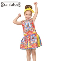 Girls Clothes Brand Girls Dress Princess Party Kids Children Clothing Toddler 2016 Kids Fun