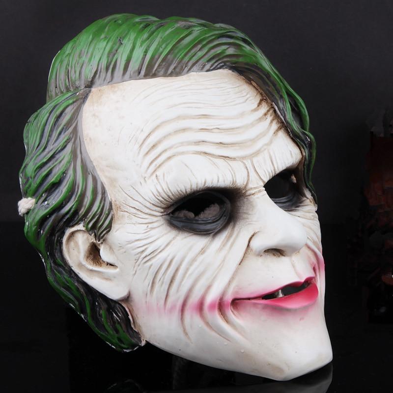 The Dark Knight Joker Mask,Adult Men Halloween Movie Cosplay Costume ...