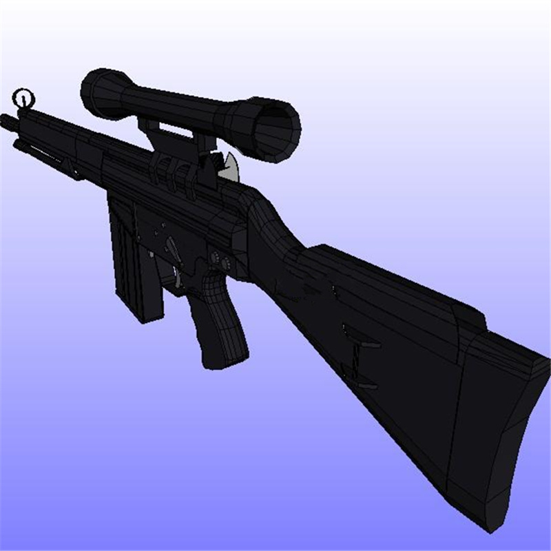 Star Terran C10 Ghost Sniper Rifle 1:1 Full-length 95cm 3d Paper Model Diy Toy Toys & Hobbies