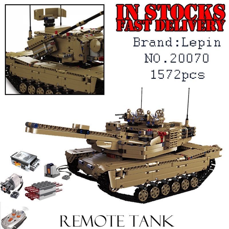 LEPIN Military 20070 1572pcs RC Tank Building Blocks Bricks enlighten toys for children Birthday gifts brinquedos military hummer rc tank building blocks remote control toys for boys weapon army rc car kids toy gift bricks compatible lepin