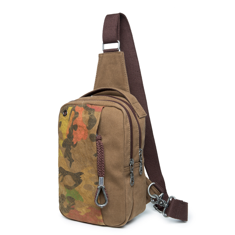 2016 Men s Vintage Canvas Travel Casual Messenger Bag 4 Color Small  Shoulder Crossbody Bag Male Sling Pack Chest Casual Bag 8e08b84f91a51