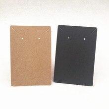 24 шт 9*6 см пустая крафт-карта в простом стиле для упаковки ювелирных изделий, используемая для ожерелья и сережек и стад, бумажная карточка для демонстрации ушей
