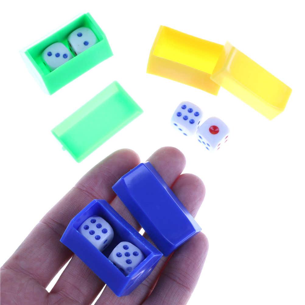1 Juego de Funny liing Predictive dado de magia Props trucos de magia dado de magia juguetes para niños Color al azar