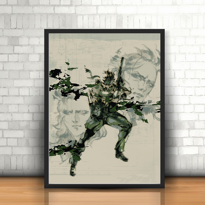 Metal Gear Solid 3 Snake Eva Boss Wall Art Canvas Posters