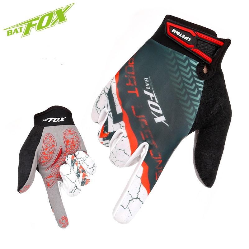 Prix pour BATFOX Plein Doigt Cyclisme Gants Hommes Et Femmes Automne Printemps VTT/Route Vélo Gants Anti-choc Sports de Plein Air gants F559
