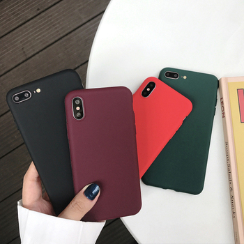 Case For iphone 6 6S Green Wine Red Black Silicone Phone Bag Case Cover Coque For iphone 7 8 7Plus 6 S 6Plus 8Plus X Xs Max Xr