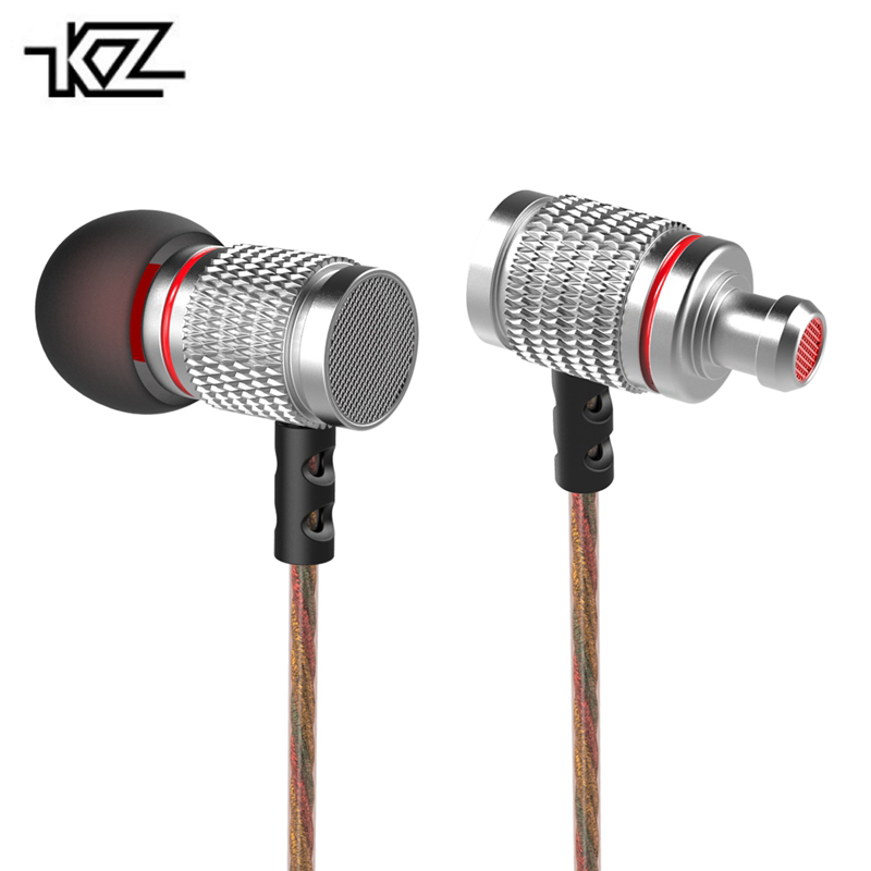 Original KZ EDR2 In-Ear Earphone Metal Heavy Super Bass Sound Earbuds With Microphone For Smart Phone PC original earphone musttrue in ear super bass earbuds with microphone gaming headset for phone iphone xiaomi samsung pc