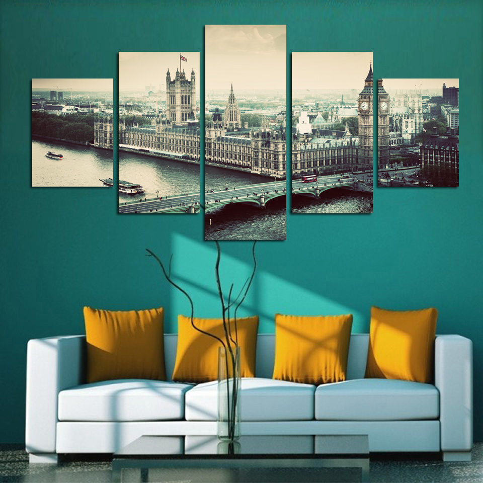 Modern A part of City Canvas Painting Home Decor canvas Picture Print On Wall For Living Room Bedroom Restaurant FA189