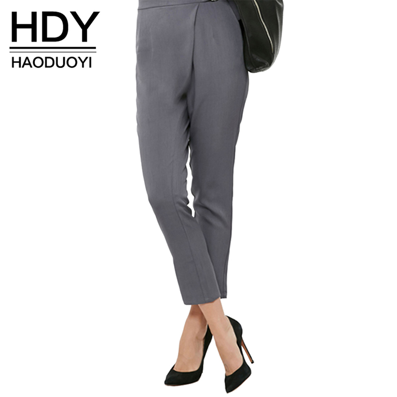 NEW FASHIONS  HDY Haoduoyi Solid Color Fashion Pants Women Autumn Slim Drawstring Trousers For Women Street Brief Style Casual Pencil Pants