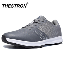 Thestron Men Golf Shoes Comfortable Breathable Men's Waterproof Golf Training Sneakers Black Gray Anti Slip Outdoor Sport Shoes golf shoes male golf trainers ultra light water proof golf shoes and no nail shoes sport sneakers shoes free shipping