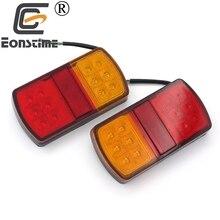 Eonstime 12V 24V 12 LED Stop Rear Tail Indicator Reverse Lamps Lights