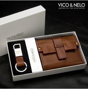 The best gift new 100 genuine leather men wallet for Designer gifts for men