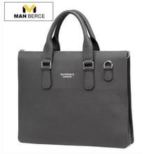 Brand Handbag MANBERCE Men Shoulder Bags Messenger Bag Genuine Leather Briefcase Men's Business Casual Tote Laptop Bag
