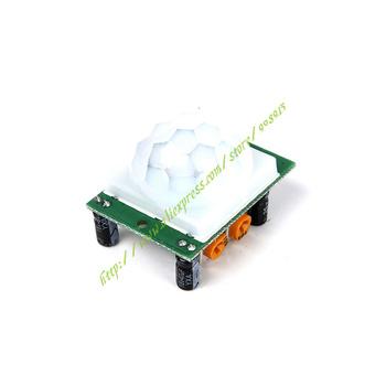 Darmowa wysyłka HC-SR501 regulacja IR piroelektryczny czujnik podczerwieni PIR moduł ruchu czujnik moduł tanie i dobre opinie DEMO BOARD Rozszerzenie Forum Waveshare