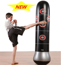 1.15M Inflatable boxing Tumbler Roly-poly punching bag  Sports Yellow Larva worm For Kids Christmas gift