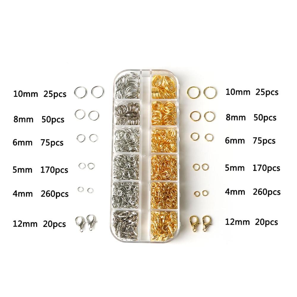 Hot 500pcs//1000pcs 4//6//8mm Circle Jump Rings Open Connectors À faire soi-même Craft Design