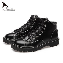 TASTIEN New Arrival Fashion Women Flats Shoes 2017 Top Quality Genuine Leather Women  Shoes Solid Black Casual Shoes Big Size