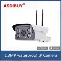 WIFI 1280 X 960P 1 3MP Bullet IP Camera Waterproof 4 ARRAY IR LED Night Vision