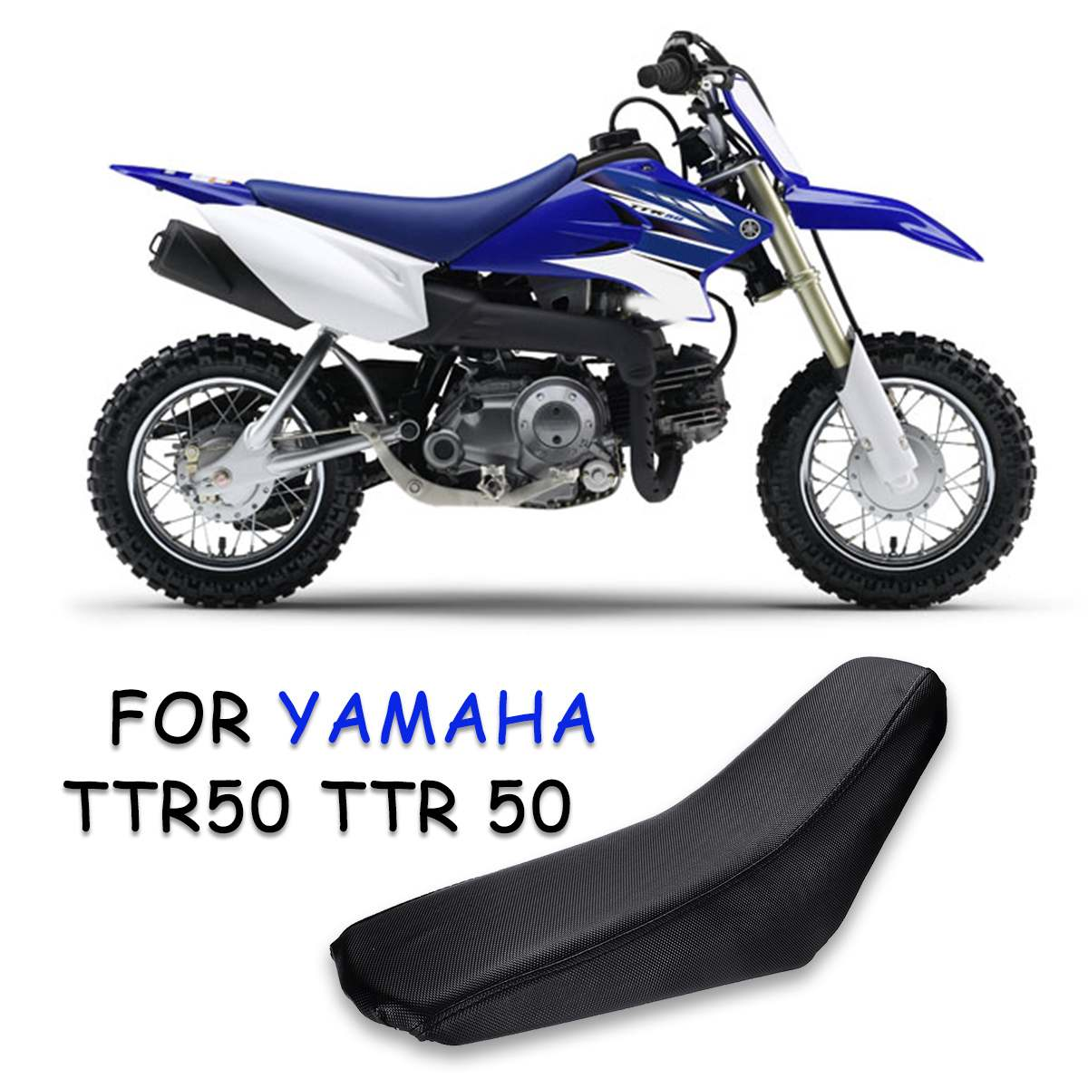 Motorcycle Black Foam Seat Cushion For YAMAHA TTR50 TTR 50CC I SE19 Knitted Fabric Cover(China)