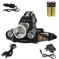 Boruit 6000LM 3x XM-L T6 LED Stirnlampe Kopflampe 2x18650 аккумуляторная батарея Авто USB EU Ladegerat Кемпинг Рыбалка Велоспорт