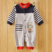 Animal Pattern Baby Rompers