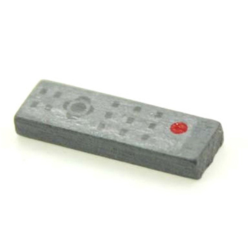 1 Uds. TV LCD de Panel plano con mando a distancia, muebles grises, juguetes para casa de muñecas, decoración en miniatura