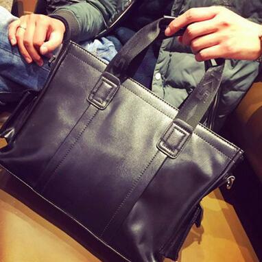 ФОТО New Arrival Promotion Men Handbag Simple Famous Brand Business Men Briefcase Bag Luxury Genuine Leather Shoulder Bag Laptop Bag